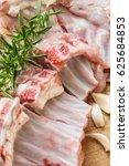 prepare fresh tender ribs | Shutterstock . vector #625684853