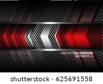 abstract red silver arrow on...