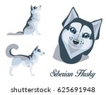 illustration of a siberian... | Shutterstock .eps vector #625691948