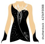 dance costume  skating dress ... | Shutterstock .eps vector #625693088