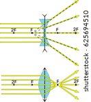 ray diagrams for lenses | Shutterstock .eps vector #625694510
