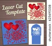 wedding invitation or greeting... | Shutterstock .eps vector #625695338