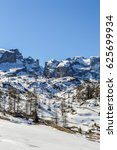 dolomites alps mountains in... | Shutterstock . vector #625699934