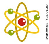 nucleus and orbiting electrons... | Shutterstock .eps vector #625701680