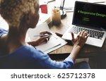 web design coding program... | Shutterstock . vector #625712378