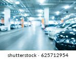 abstract blur car parking in... | Shutterstock . vector #625712954