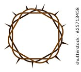 crown of thorns icon flat... | Shutterstock .eps vector #625713458