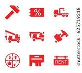 advertising icons set. set of 9 ...   Shutterstock .eps vector #625719218