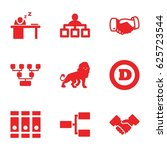 corporate icons set. set of 9... | Shutterstock .eps vector #625723544
