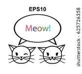 vector icon logo cat | Shutterstock .eps vector #625726358