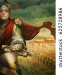 digital illustration of fantasy ... | Shutterstock . vector #625728986