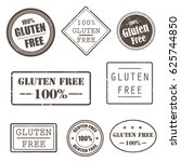 gluten free grunge rubber... | Shutterstock .eps vector #625744850