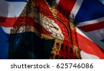 union jack flag and iconic big... | Shutterstock . vector #625746086
