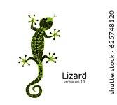 green lizard sketch  zenart for ... | Shutterstock .eps vector #625748120