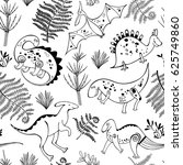 seamless pattern with... | Shutterstock .eps vector #625749860