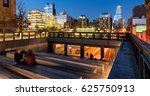 the high line at twilight with... | Shutterstock . vector #625750913