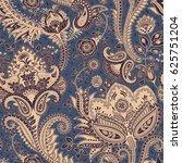paisley floral seamless pattern.... | Shutterstock .eps vector #625751204