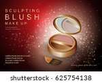 3d cheek blush isolated on red... | Shutterstock .eps vector #625754138