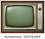 tv isolated  3d vintage vector... | Shutterstock .eps vector #625761509