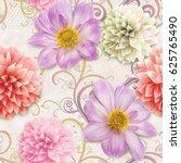 Beautiful Flower Mix Flower Seamless - Fine Art prints