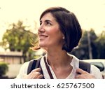 Small photo of Adult Woman Travel Backpacker Tourist