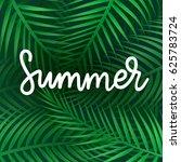 hello summer vector... | Shutterstock .eps vector #625783724