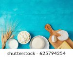 milk and cheese  dairy products ... | Shutterstock . vector #625794254
