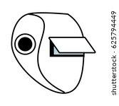 outline welder mask eyes... | Shutterstock .eps vector #625794449