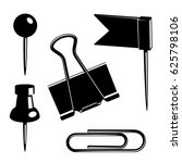 vector office supplies.... | Shutterstock .eps vector #625798106