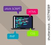 concept of programming on... | Shutterstock .eps vector #625798589