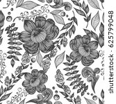 vector seamless pattern with... | Shutterstock .eps vector #625799048