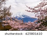 the mount fuji. the foreground... | Shutterstock . vector #625801610
