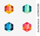 modern simple shape  colorful ... | Shutterstock .eps vector #625802288