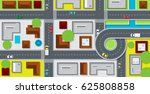 city map with buildings and...   Shutterstock .eps vector #625808858