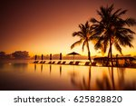 amazing mood with poolside and... | Shutterstock . vector #625828820
