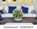 beautiful flowers in vase on... | Shutterstock . vector #625832819
