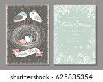 baby shower invitation... | Shutterstock .eps vector #625835354