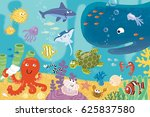 animal kingdom and depths of... | Shutterstock . vector #625837580