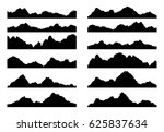 vector set of black and white... | Shutterstock .eps vector #625837634