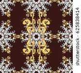 pattern on brown background... | Shutterstock . vector #625838414