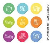 vector round badges stickers set