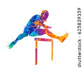 abstract man jumping over... | Shutterstock .eps vector #625839359