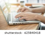 business male hands typing on a ... | Shutterstock . vector #625840418