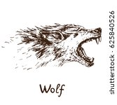 gray wolf  timber wolf or... | Shutterstock .eps vector #625840526