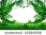 jungle vector illustration.... | Shutterstock .eps vector #625842938
