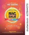 festival sale template | Shutterstock .eps vector #625844570