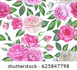 seamless floral pattern with... | Shutterstock . vector #625847798