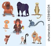 different breads monkey... | Shutterstock .eps vector #625848104