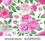seamless floral pattern with... | Shutterstock . vector #625850450