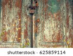 Old Wooden Door With Leaving...